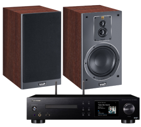 Magnat Signature 503 (mocca) + Pioneer NC-50DAB. Zestaw stereo.